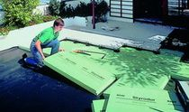 Zateplenie pochôdznej plochej strechy terasy sivým polystyrénom